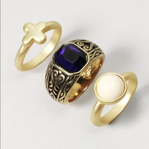 Jewelmint Celtic Gem Ring Set